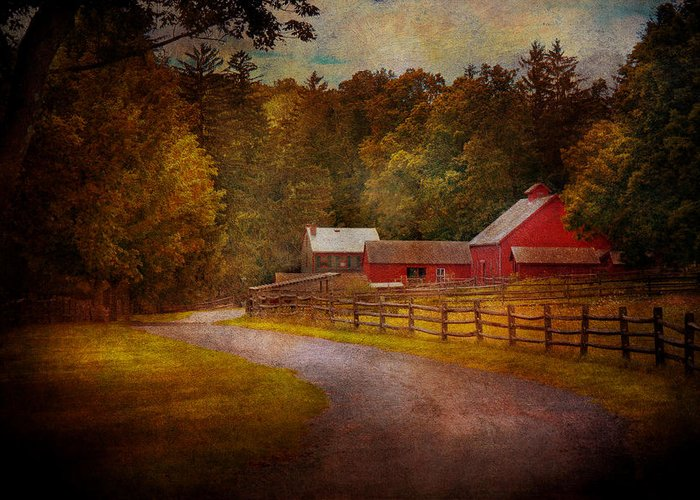 Hdr Greeting Card featuring the photograph Farm - Barn - Rural Journeys by Mike Savad