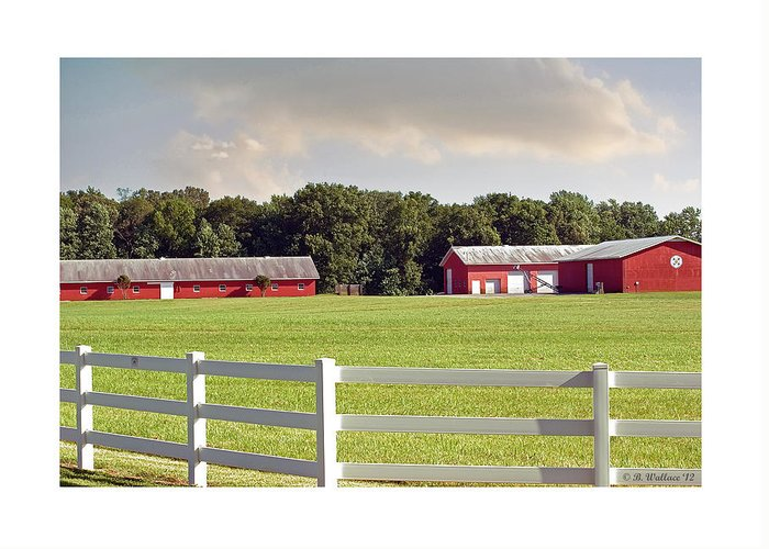 2d Greeting Card featuring the photograph Farm Pasture by Brian Wallace
