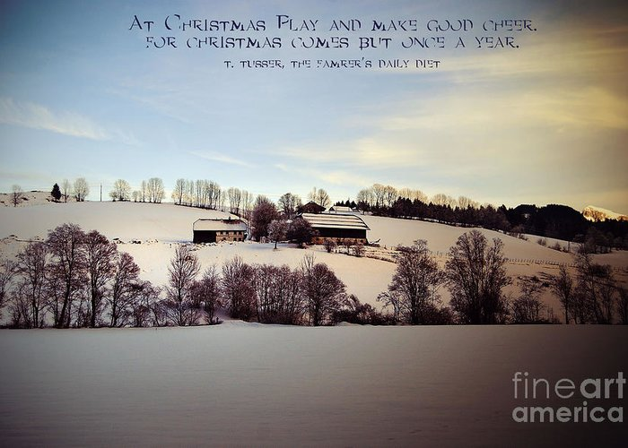 Winter Greeting Card featuring the photograph Farmer's Christmas by Sabine Jacobs