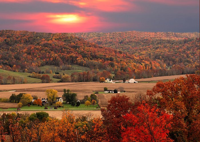 Autumn Greeting Card featuring the photograph Farmers Of Paint Valley by Randall Branham