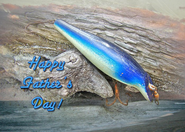 Fathers Day Greeting Card featuring the photograph Fathers Day Greeting Card - Vintage Floyd Roman Nike Fishing Lure by Mother Nature
