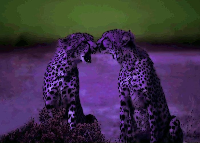 Cheetahs Greeting Card featuring the photograph Feelings by George Pedro