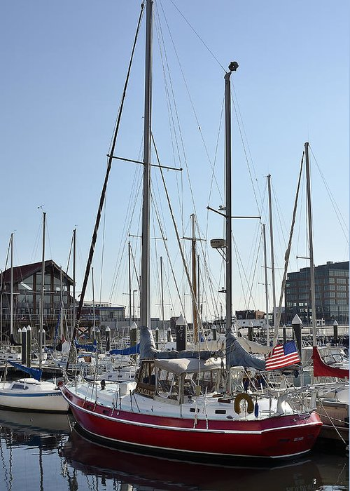 Baltimore Greeting Card featuring the photograph Fells Point Boatyard by Brendan Reals