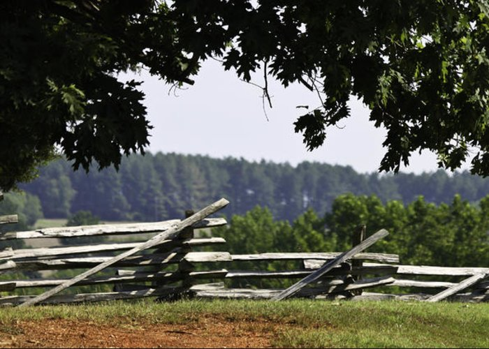 Appomattox Greeting Card featuring the photograph Fence At Appomattox by Teresa Mucha