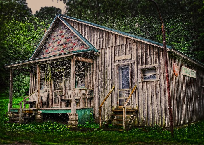 Country Store Greeting Card featuring the photograph Ferndale Country Store by Randall Branham