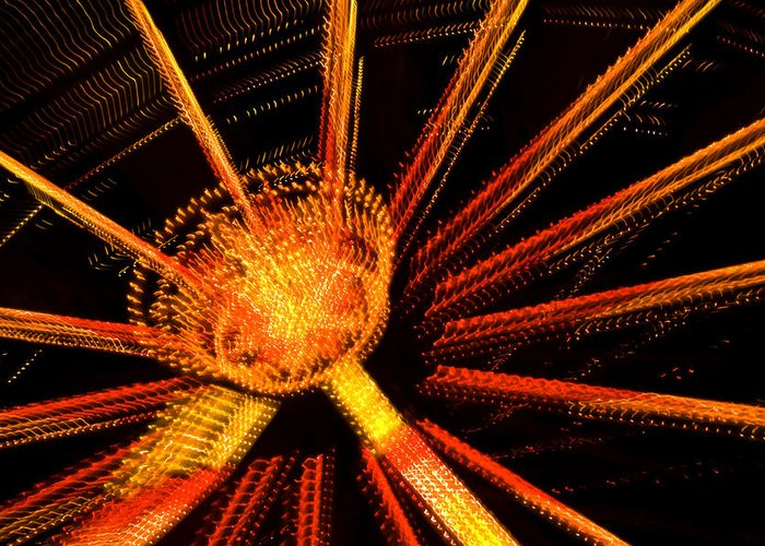 Light Greeting Card featuring the photograph Ferris Wheel Lights by Jeffrey Auger