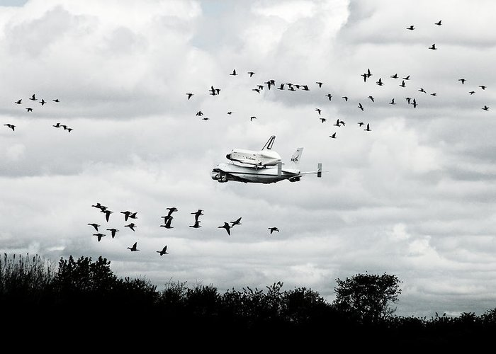 Space Shuttle Greeting Card featuring the photograph Final Flight Of The Enterprise by Tolga Cetin