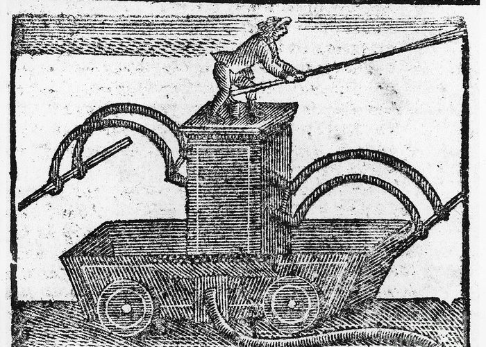 1769 Greeting Card featuring the photograph Fire Engine, 1769 by Granger