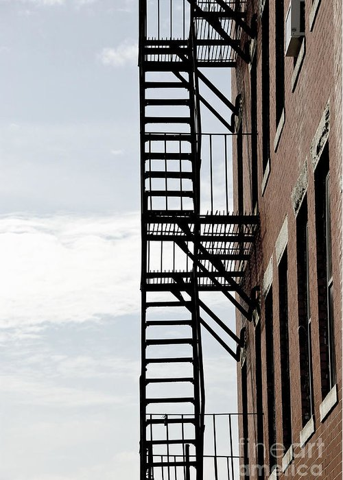 House Greeting Card featuring the photograph Fire Escape In Boston by Elena Elisseeva