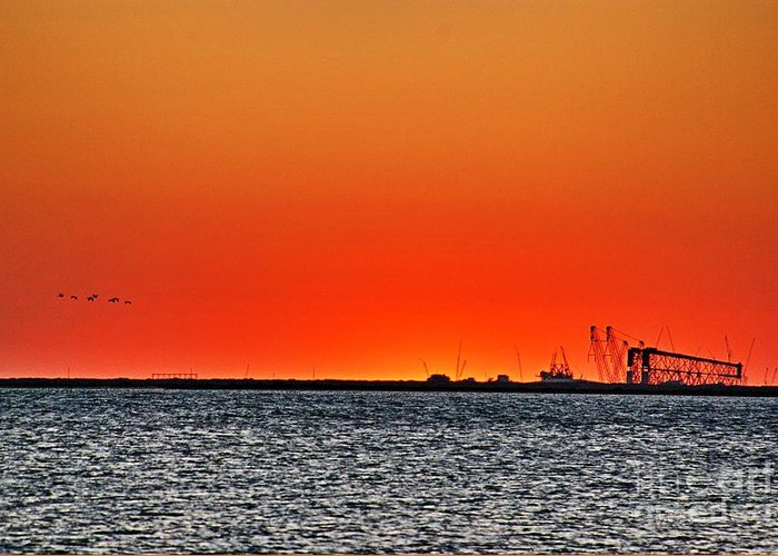Sunset Greeting Card featuring the photograph Fire In The Sky by Ken Williams