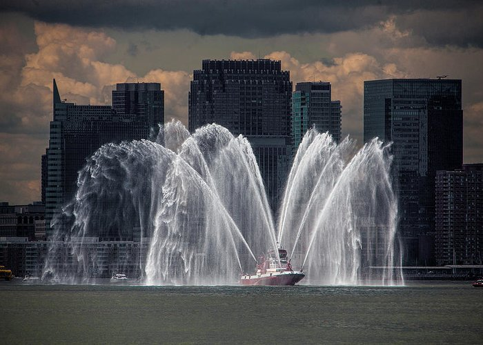 Fireboat Greeting Cards