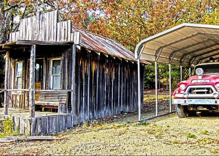 Fireman Cottage -ouachita Mountains Greeting Card featuring the photograph Fireman Cottage by Douglas Barnard