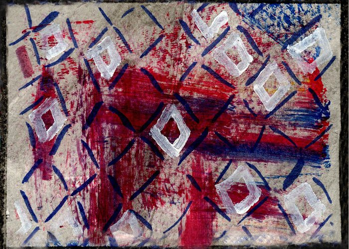 Diamonds Greeting Card featuring the painting Firework Diamonds by Kimanthi Toure