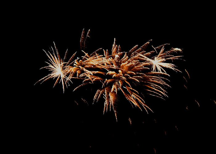 Firework Greeting Card featuring the photograph Firework Tails by Robbie Basquez