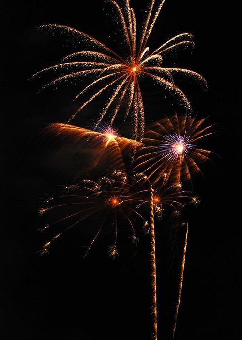 Fireworks Greeting Card featuring the photograph Fireworks 1580 by Michael Peychich