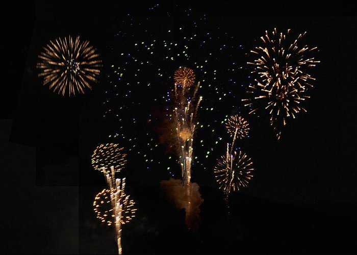 Fireworks Greeting Card featuring the photograph Fireworks by Bill Cannon