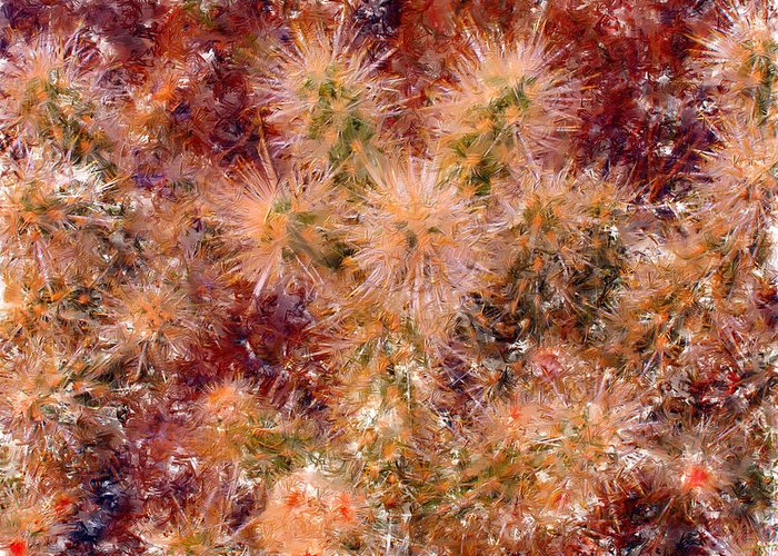 Fireworks Greeting Card featuring the digital art Fireworks Explosion by Marilyn Sholin