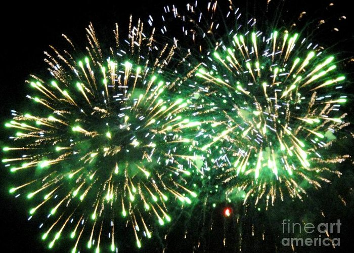Opsail Greeting Card featuring the photograph Fireworks Number 4 by Meandering Photography