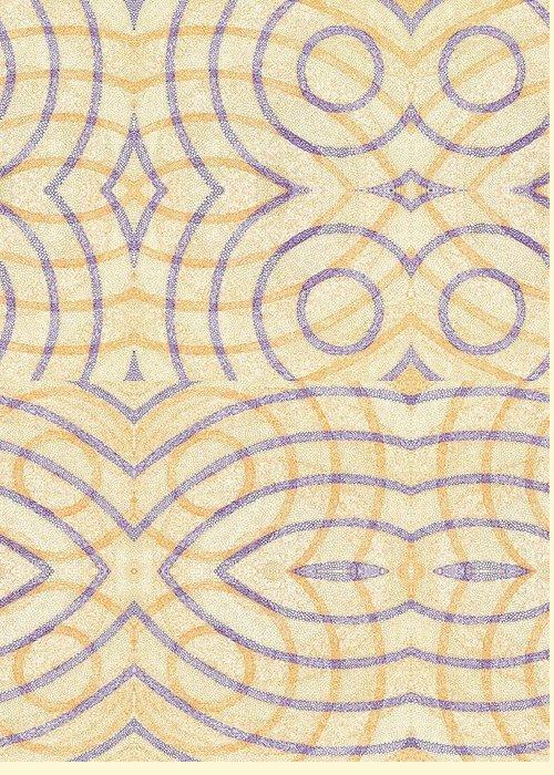 Firmamentals Fundamentals Firmament Fundament Circle Concentric Overlap Rings Shogun Shotgun Greeting Card featuring the digital art Firmamentals 0-7 by William Burns