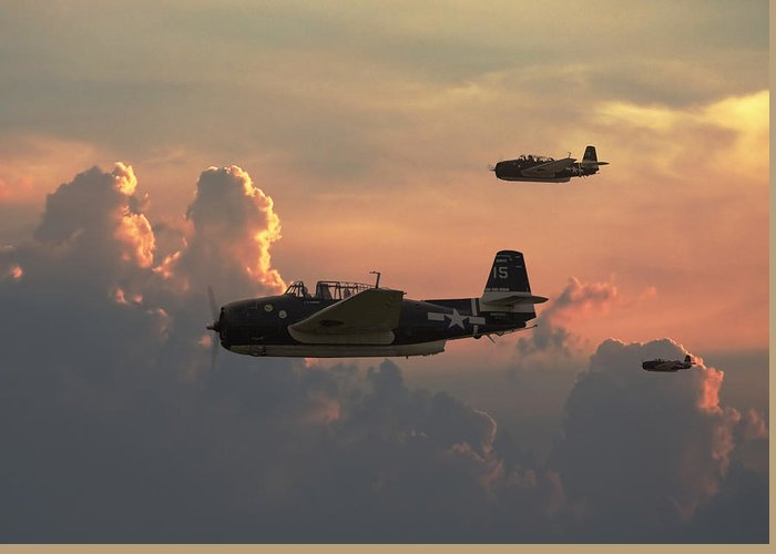 Aircraft Greeting Card featuring the photograph First Light Strike by Pat Speirs