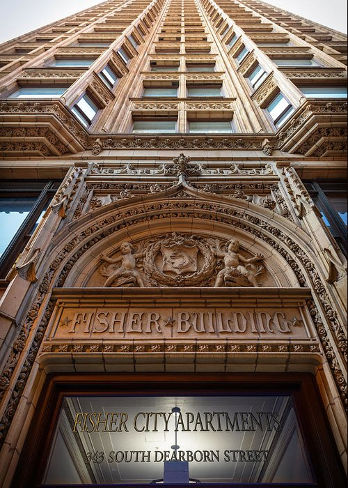 Chicago Greeting Card featuring the photograph Fisher Building Chicago by Steve Gadomski