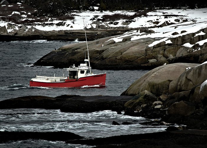 Fishing Greeting Card featuring the photograph Fishing Boat by Geoff Evans