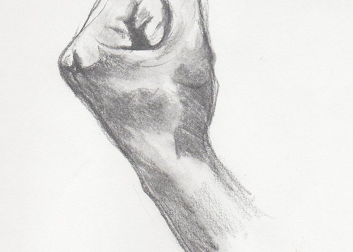 Fist Greeting Card featuring the painting Fist by Pamela Corwin