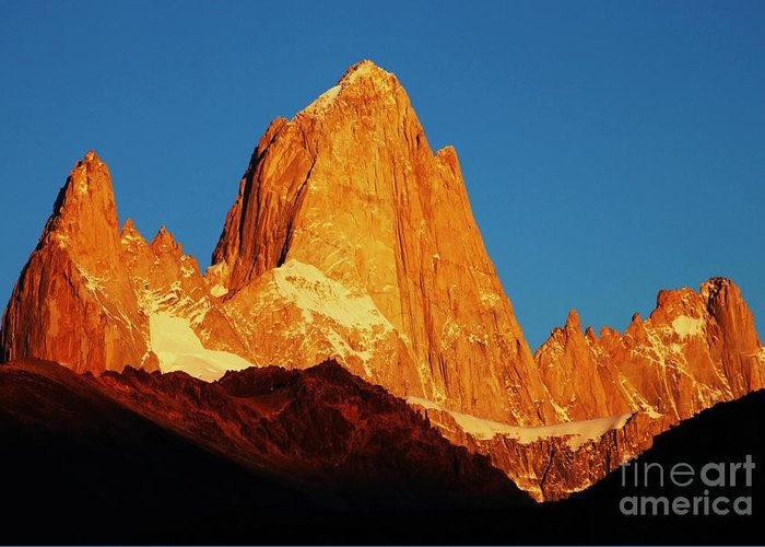 Photo Greeting Card featuring the photograph Fitz Roy At Dawn by Bernard MICHEL