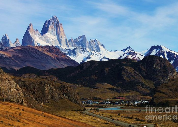 Photo Greeting Card featuring the photograph Fitz Roy by Bernard MICHEL