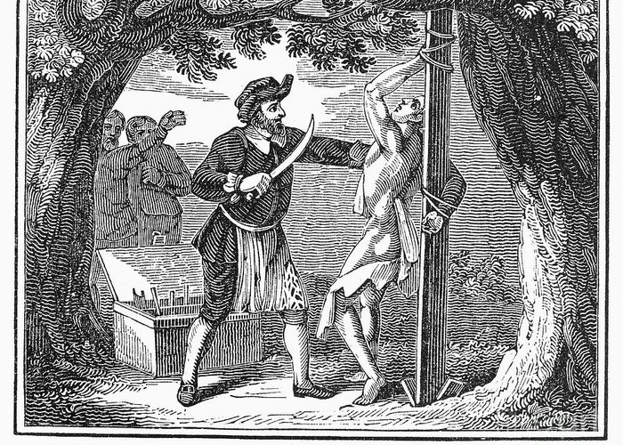1840 Greeting Card featuring the photograph Flaying Of Christian by Granger