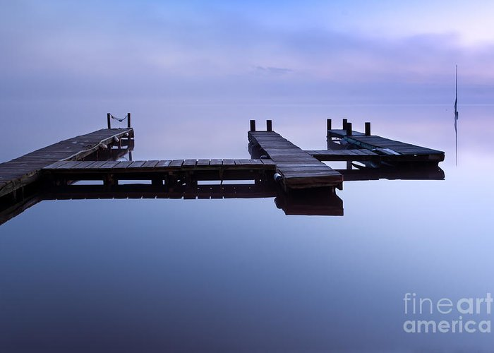 Lac Greeting Card featuring the photograph Floating Platform by David Gimenez Aldalur
