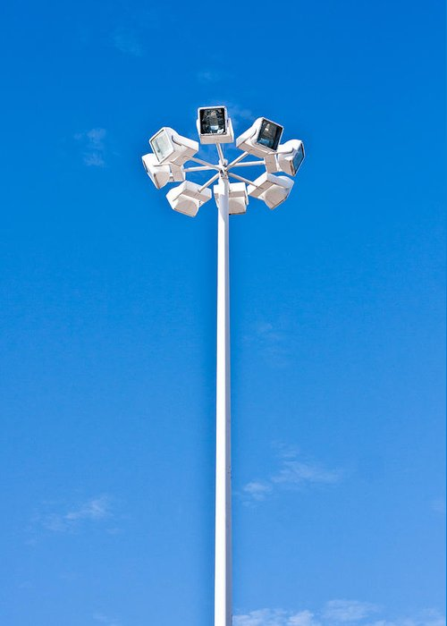 Background Greeting Card featuring the photograph Floodlight by Tom Gowanlock