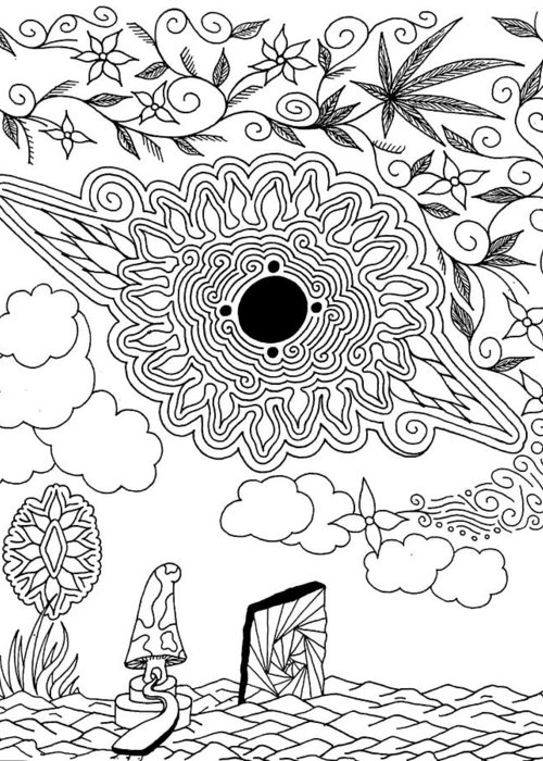 Drawing Greeting Card featuring the drawing Floral Sun by Andrew Padula