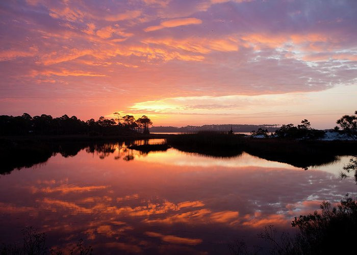 Sunrise Greeting Card featuring the photograph Florida Sunrise by Charles Warren