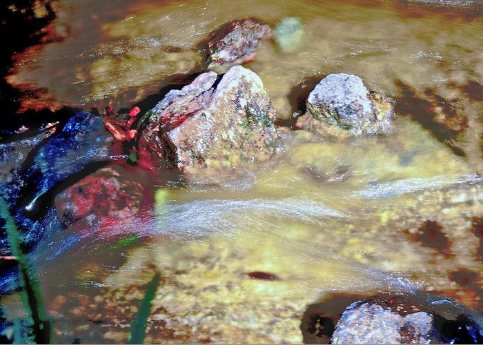 Water Greeting Card featuring the photograph Flow by Susi Perla