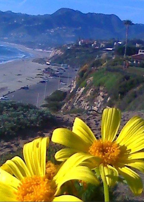 Flower Beach Greeting Card featuring the photograph Flower Beach by Douglass Reynolds