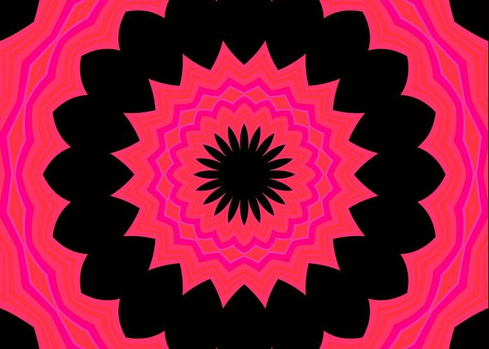 Abstract Greeting Card featuring the digital art Flower Power by Carolyn Repka