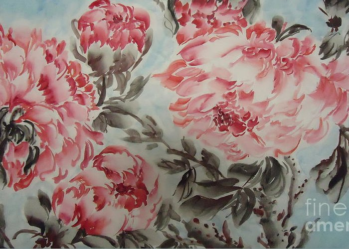 Flower Greeting Card featuring the painting Flower092012-1 by Dongling Sun