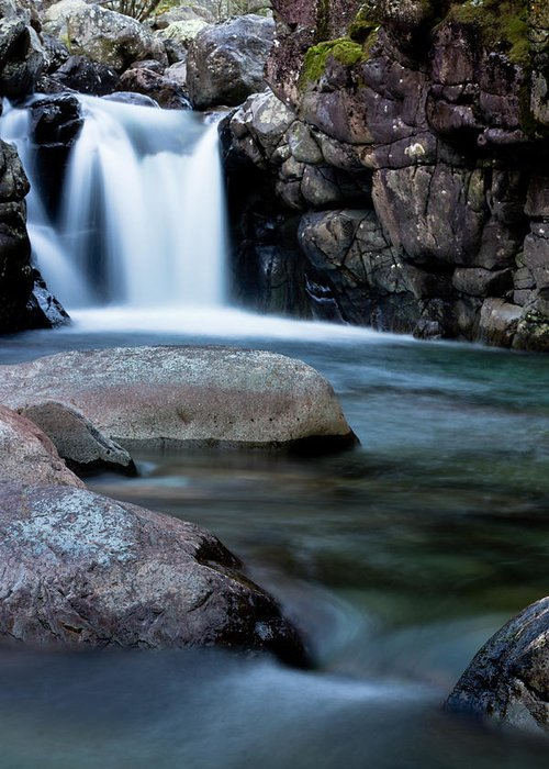 Waterfall Greeting Card featuring the photograph Flowing Falls by Justin Albrecht