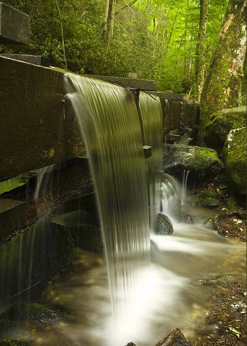 Mill Greeting Card featuring the photograph Flowing Water by Andrew Soundarajan