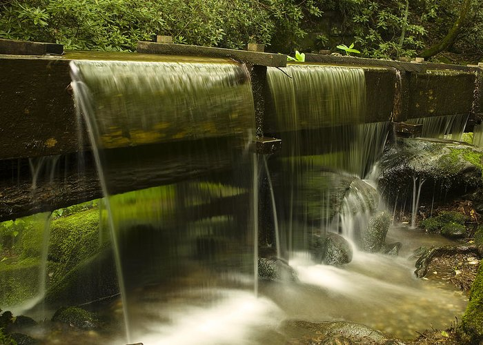 Mill Greeting Card featuring the photograph Flowing Water From Mill by Andrew Soundarajan