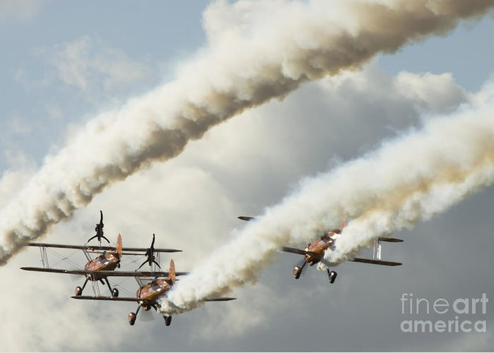 Airshow Greeting Card featuring the photograph Flying Ballet Dancers by Angel Tarantella