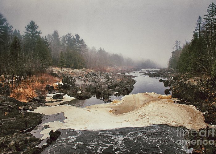 St Louis River Greeting Card featuring the photograph Foamy Root Beer River by Ever-Curious Photography