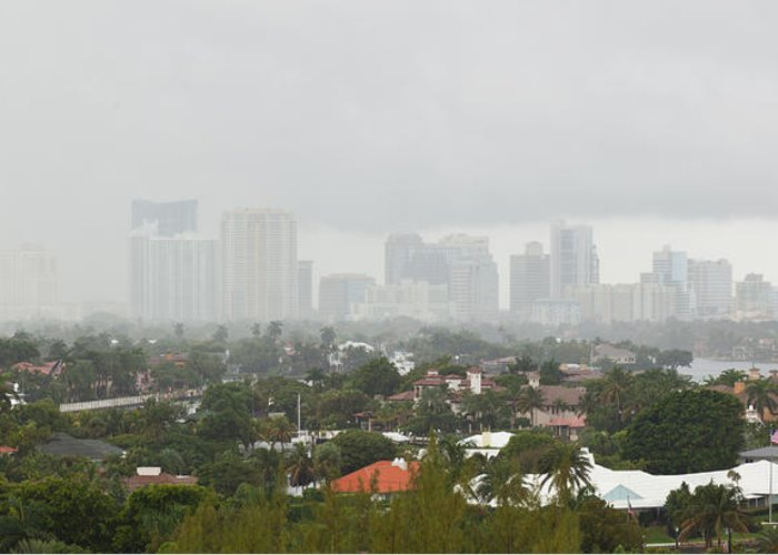Fort Lauderdale Greeting Card featuring the photograph Foggy Fort Lauderdale Florida by Michelle Constantine