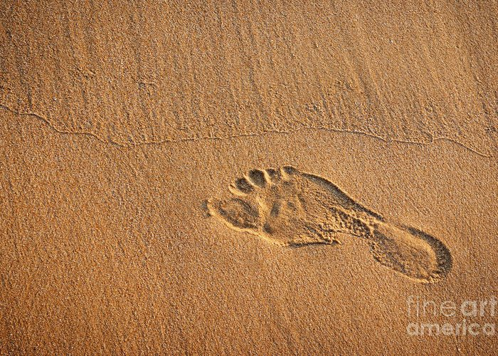 Activity Greeting Card featuring the photograph Foot Print by Carlos Caetano