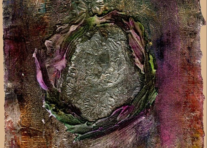 Creative Passages Greeting Card featuring the mixed media for Eternity by Cassandra Donnelly