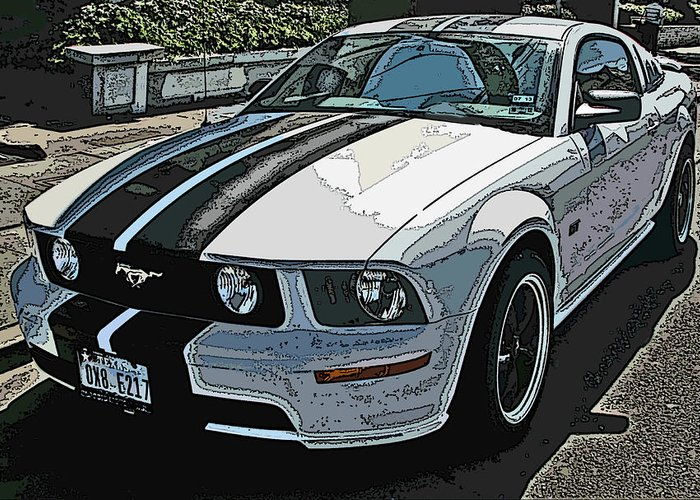Ford Mustang Gt Greeting Card featuring the photograph Ford Mustang Gt No. 2 by Samuel Sheats