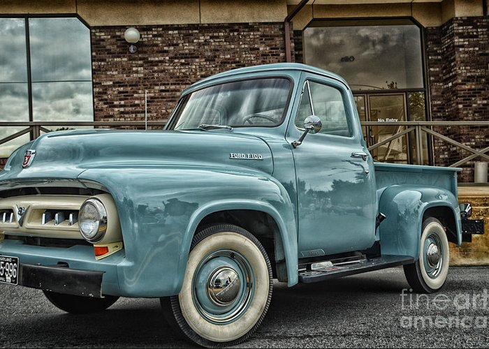 Vintage Truck Greeting Card featuring the photograph Ford Tough by Tamera James