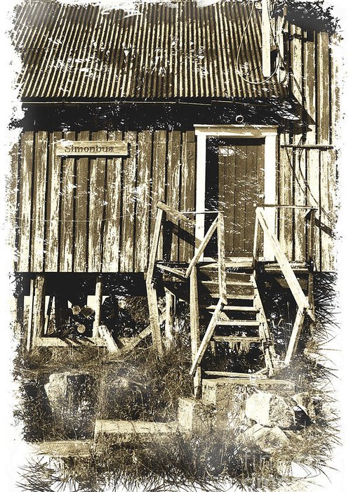 Heiko Greeting Card featuring the photograph Forgotten Wooden House by Heiko Koehrer-Wagner