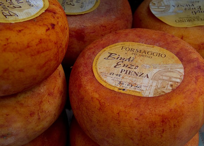 Multipuliciano Greeting Card featuring the photograph Formaggio Cheese Of Italy by Roger Mullenhour